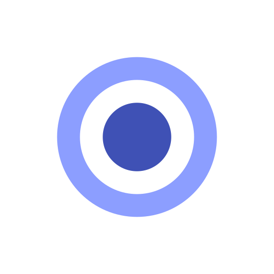Wind Speed Less 1 icon. This icon is representing a wind speed less than 1. There is one circle and a smaller circle inside of the larger one.