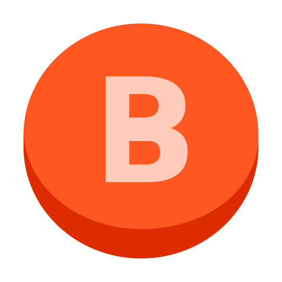 """Xbox B icon. This is the logo for the B button on an XBox controller. It has a capital letter """"B"""" inside of a circle which resembles the button found on all XBox controllers."""