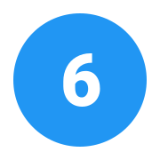 Circled 6 C icon