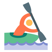 Rower in Canoe icon