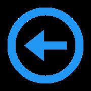 À esquerda dentro de um círculo icon