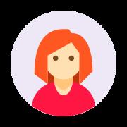 Circled User Female Skin Type 1 2 icon