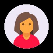 Usuário feminino tipo de pele com círculo 4 icon