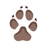 Wolf Paw Print icon