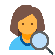 User With a Magnifying Glass icon