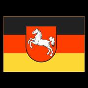 Flaga Dolnej Saksonii na ziemi icon