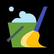Bucket and Broom icon