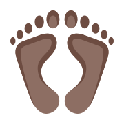 Empreintes pieds humains icon