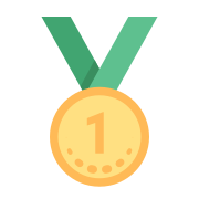 Medalha de primeiro lugar icon