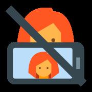 Zakaz robienia selfie icon