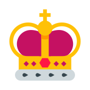 King Crown Silhouette icon