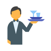 Waiter With Dishes icon