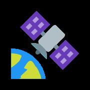 Satelita na orbicie icon