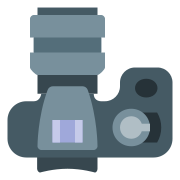 Dslr With Large Lense icon