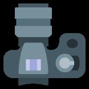 Duży obiektyw fotograficzny icon