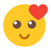 Smiling Face With Heart icon