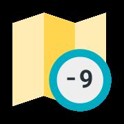 Zona horaria + 9 icon