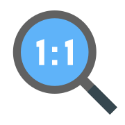 Magnifying Glass With an Original Resolution icon