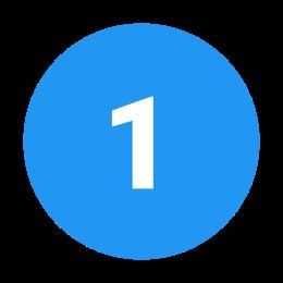 1 C w kółku icon