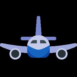 Widok z przodu samolotu icon