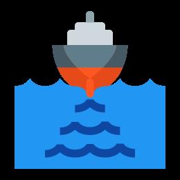 Okręt opuszczający port icon