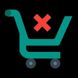 Esvaziar o carrinho de compras icon