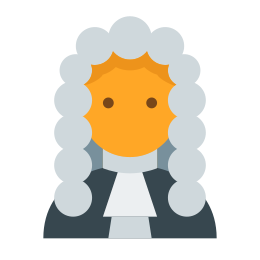 Sędzia sądu icon