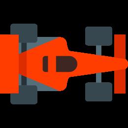 Samochód wyścigowy F1 Widok z góry icon