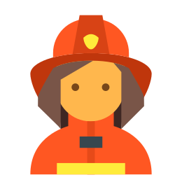 Woman in Safety Hat icon