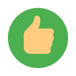 Circled Thumbs Up icon