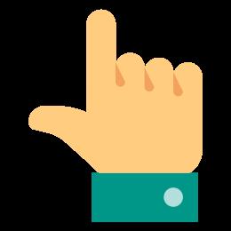 Dłoń w górę icon