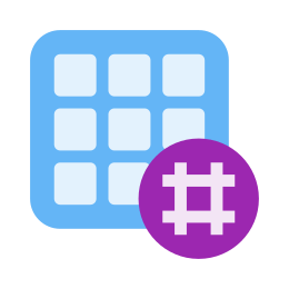 Siatka aktywności Hashtag icon