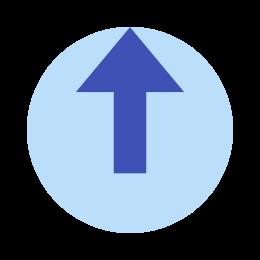 Wyloguj zaokrąglone w górę icon