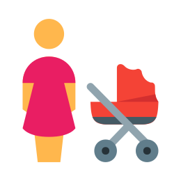 Mother With Baby Carriage icon