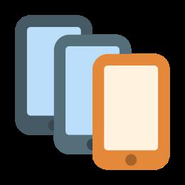 Multiple Smartphones icon