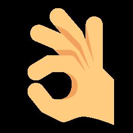 OK ręka icon