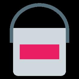 Farbeimer mit Etikett icon