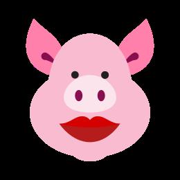 Świnia ze szminką icon