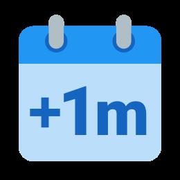 Plus 1 Month icon