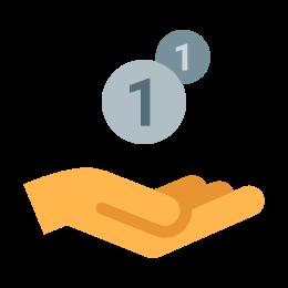 Hand Receiving Money icon