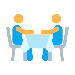 Two Persons At the Table icon