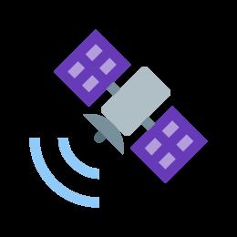 Satelita wysyłająca sygnał icon