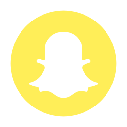 Snapchat Circled Logo icon