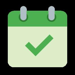 Calendar With OK Sign icon