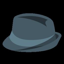 Мягкая фетровая шляпа icon