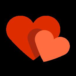 Dwa serca icon