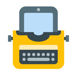 Typewriter With Tablet icon