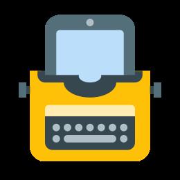 Maszyna do pisania z tabletem icon