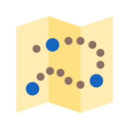 Mapa z punktami orientacyjnymi icon