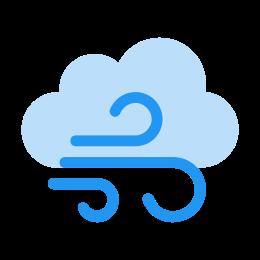 Clima ventoso icon